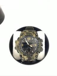 Relógio estilo Camuflado Prova D'água