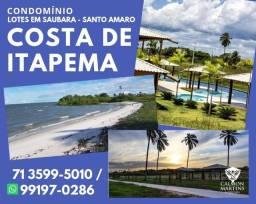Costa de Itapema, lotes a partir de 450m², entrada de 10% em Saubara