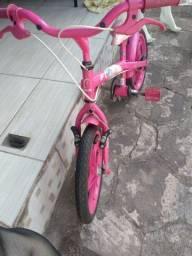 Bicicleta da Barbie Rosa para menina de 2a 6anos de idade