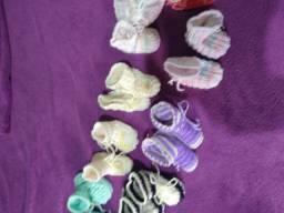 Sapatinhos de bebé tricot