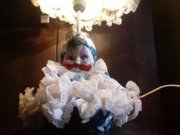 Abajur Boneca de Porcelana. Vintage