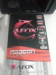 Placa de vídeo RX 580 8gb NOVA