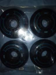 4 rodas de patins novas, pretas