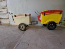 Procuro pessoas para vender sorvete no carrinho