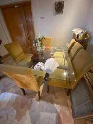 Mesa usada 6 cadeiras