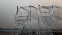 2 carinhos de supermercados 450 os 2