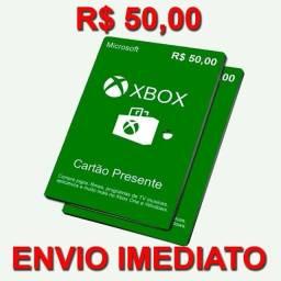 Cartão de Presentes Xbox - 50 reais - envio imediato