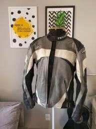 Jaqueta de moto em couro Teknic importada