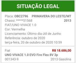 Uno vivace 2 portas 2013 valor abaixo da tabela preço de ocasiao apenas venda