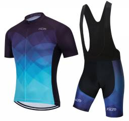 Kit roupa para ciclistas completo camisa e bermuda roupa bike