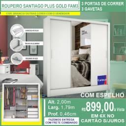 Guarda Roupas Santiago Plus Gold Fam3 Branco