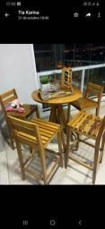 Mesa 4 cadeiras área gourmet