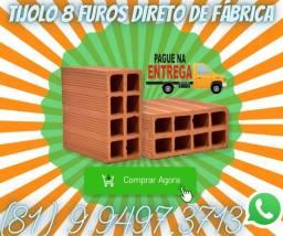 Tijolo 8 Furos Direto de Fábrica Caruaru e Região (Só carga fechada)06610995