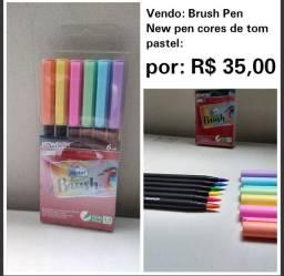 "Canetas ""Nem Pen"" ponta pincel, tom pastel"