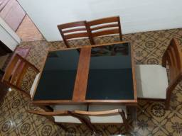 Mesa Jantar Extensível com 6 cadeiras