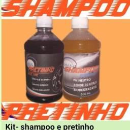 Kit shampoo e pretinho + lavagem a seco