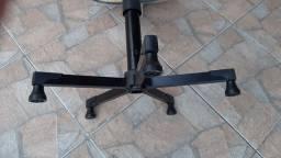 Cadeira de escritório regulável preta