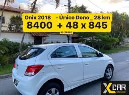 Onix 1.0 - 2018 _ Pouco Rodado 28 km _ Único Dono _ Completo