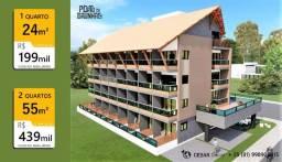 1 Quarto   24m²   Flats em Porto de Galinhas