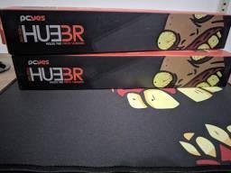 Mousepad Gamer Huebr Preto 360x300MM