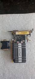 Placa de vídeo zotac G210 1Gb ddr3 + adptador