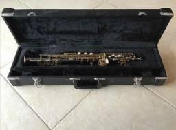 Sax Soprano Eagle Sp502 Ônix