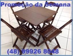 Promoção- de Conjuntos de mesa e cadeiras dobráveis