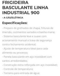 Frigideira basculante linha industrial.