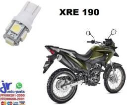 """""""Lâmpada LED T10 Pingo 12V Luz Branca Aplicação Placa XRE 190"""