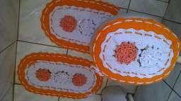 Kit  2 Jogos de banheiro de crochê
