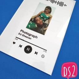 Quadro em Vidro Decorativo Spotify