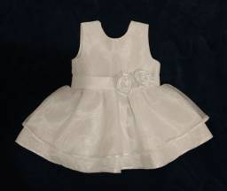 Vestido branco bebê um ano, parcelamos