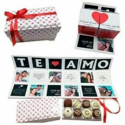 Caixa Cubo dia dos Namorados