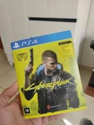 Jogo Cyberpunk 2077 PS4 box completo