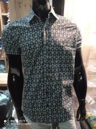 Camisa slim Estampada
