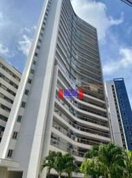 Apartamento projetado com 3 suítes para alugar no Meireles