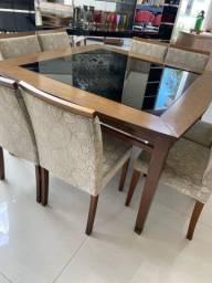 Jogo de sala jantar mesa , buffet e 8 cadeiras