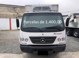 Título do anúncio: Mercedes-Bens Acello 815 2014 Baú Refrigerado Entrada mais Parcelas com Serviço.