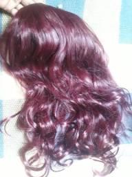 vendo aplique para cabelo no tom vermelho semi nova