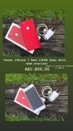 iPhone 7 Red 128 GB semi novo