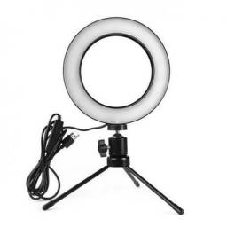 Luminador Ring Light 6 Polegadas 16cm Usb Led Apoio Mesa