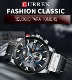 Relógio Curren Original de Pulso Masculino Presente de Moda para Homem