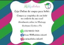 Loja Online de Roupas novas para bebês