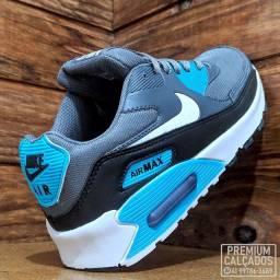 Tênis Nike Air max 90 cinza e azul - Fazemos entregas