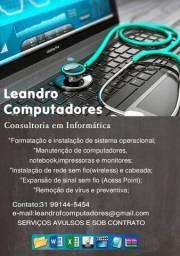 Título do anúncio: Serviços de informatica Notebook e PC , monitores Buritis