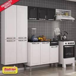 Título do anúncio: Cozinha Itatiaia Rose 4 peças 10 portas em aço (Branco/Preto).