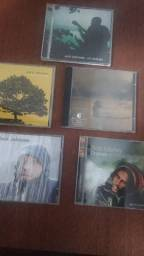 5 CDs pop rock Jack Johnson  Ben Harper e reggae Bob Marley