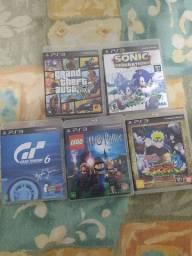 Título do anúncio: 5 Jogos de PS3 (Original)