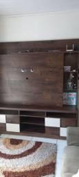 Vendo rack com painel acoplado lampada de led semi novo