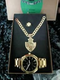 Jóias de prata mais relógio